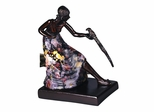 Woman With Bird Accent Lamp - Dale Tiffany