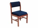 Wood and Fabric Chair - ROF-B61775-CHBE