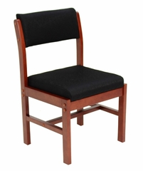 Wood and Fabric Chair - ROF-B61775-CHBK