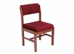 Wood and Fabric Chair - ROF-B61775-CHBY