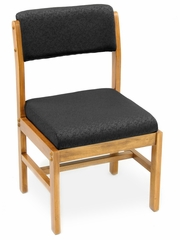 Wood and Fabric Chair - ROF-B61775-MOBK