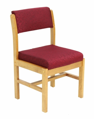 Wood and Fabric Chair - ROF-B61775-MOBY