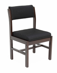 Wood and Fabric Chair - ROF-B61775-MWBK
