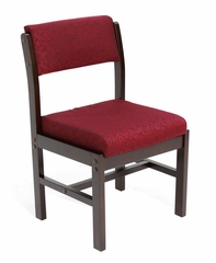 Wood and Fabric Chair - ROF-B61775-MWBY