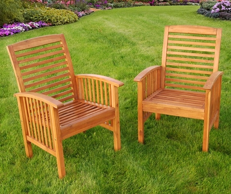 Wood Chair (Set of 2) in Natural Brown - OWC2BR-NC