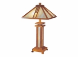 Wood Mission Table Lamp - Dale Tiffany