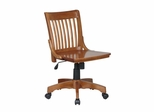 Wood Office Chair - Deluxe Armless Wood Bankers Chair - Office Star - 101