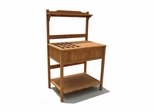 Wood Potting Bench with Recessed Storage in Natural - Merry Products - MPG-PB02