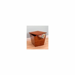 Wood Storage Cube Tapered in Walnut Finish - Winsome Trading - 94418