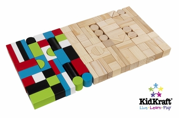 Wooden Block - 100 Pcs in Multi-Color - KidKraft Furniture - 63242