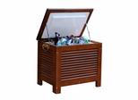 Wooden Patio Cooler with Double Wall Plastic Cooler Insert in Natural - Merry Products - MPG-PC01