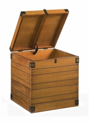 Wooden Planked Small Storage Chest in Honey Oak - Home Styles - 5480-26