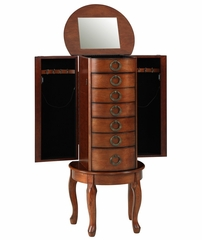"""Woodland Cherry"" Jewelry Armoire - Powell Furniture - 605-318"