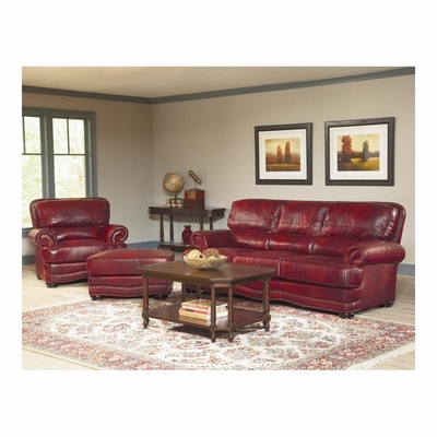 Woodland Sofa, Chair and Ottoman Set Brick - Largo - LARGO-WG-L1266-SET