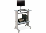 Workstation w/ LCD Mount - Gray - BDY646418