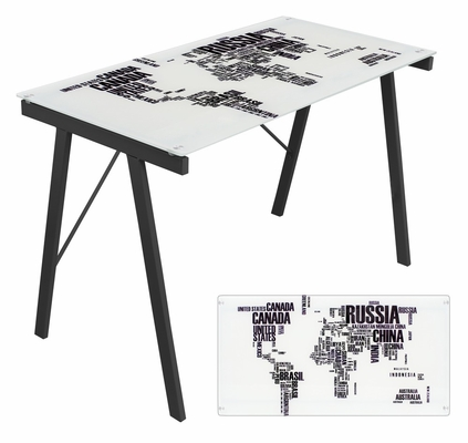 World Map Office Desk - LumiSource - OFD-TM-PGWORLD