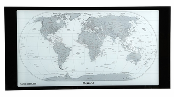 World Map Printing Curved X-Sided Computer Desk - Powell Furniture - 942-240