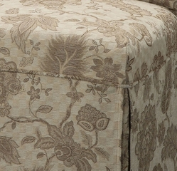 "Woven Gold with Taupe Floral Pattern Skirted ""Slip Over"" (Fits 741-440 Chair) - Powell Furniture - 741-227Z"