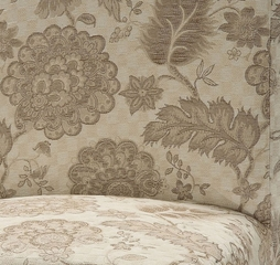 "Woven Gold with Taupe Floral Pattern ""Slip Over"" (Fits 741-440 Chair) - Powell Furniture - 741-226Z"