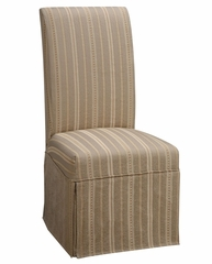 "Woven Taupe with Copper, Gold and White Stripes Skirted ""Slip Over"" (Fits 741-440 Chair) - Powell Furniture - 741-231Z"