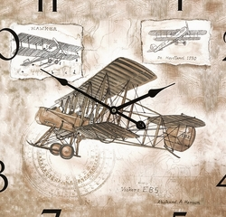 Wright Plane Wall Clock - IMAX - 37012
