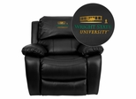 Wright State University Leather Rocker Recliner - MEN-DA3439-91-BK-45036-A-EMB-GG