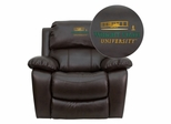 Wright State University Leather Rocker Recliner - MEN-DA3439-91-BRN-45036-A-EMB-GG