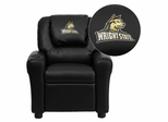 Wright State University Raiders Black Vinyl Kids Recliner - DG-ULT-KID-BK-45036-EMB-GG