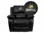 Wright State University Raiders Embroidered Black Leather Rocker Recliner  - MEN-DA3439-91-BK-45036-EMB-GG