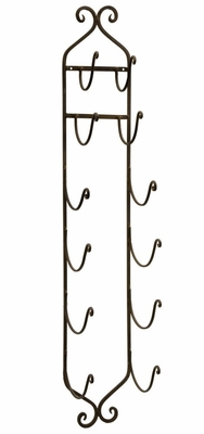 Wrought Iron Towel Wine Rack - IMAX - 9748