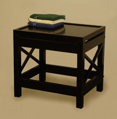 X-Frame Bathroom Stool in Espresso - RiverRidge - 06-008