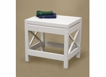 X-Frame Bathroom Stool in White - RiverRidge - 06-007