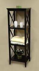 X-Frame Bathroom Towel Tower in Espresso - RiverRidge - 06-002