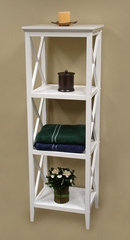 X-Frame Bathroom Towel Tower in White - RiverRidge - 06-001
