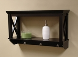 X-Frame Bathroom Wall Shelf in Espresso - RiverRidge - 06-006