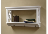 X-Frame Bathroom Wall Shelf in White - RiverRidge - 06-005