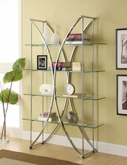 X-Motif Chrome Finish Bookshelf  - 910050