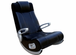 X-Rocker Ii Se Black Wireless/Rails/Ff-Speakers/Silver Plastic Arms