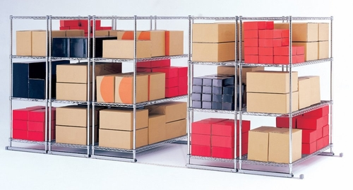 X5 Lite (3) 4-Shelf Units with Tracks, 48