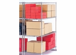 "X5 Preconfigured Free-Standing Rack, 48"" x 18"", 4-Shelf Rack (No Tracks) - OFM - X5R-1848"