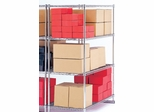 "X5 Preconfigured Free-Standing Rack, 48"" x 24"", 4-Shelf Rack (No Tracks) - OFM - X5R-2448"
