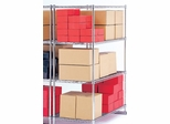 "X5 Preconfigured Free-Standing Rack ,60"" x 18"", 4-Shelf Rack (No Tracks) - OFM - X5R-1860"