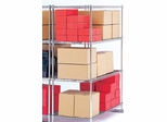 "X5 Preconfigured Free-Standing Rack, 72"" x 24"", 4-Shelf Rack (No Tracks) - OFM - X5R-2472"