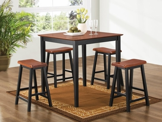 Yates 5PC Counter Height Dining Set in Oak and Black - 150293N