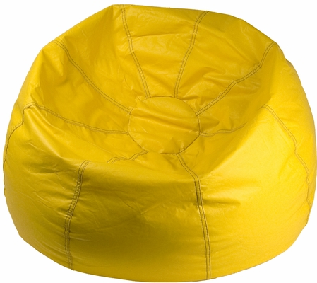 Yellow Round Bean Bag