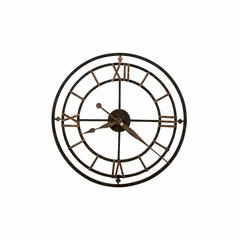York Station Wrought Iron Round Clock - Howard Miller