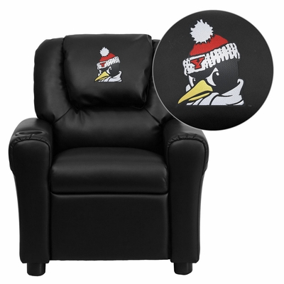 Youngstown State University Penguins Black Kids Recliner - DG-ULT-KID-BK-45034-EMB-GG