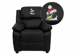 Youngstown State University Penguins Leather Kids Recliner - BT-7985-KID-BK-LEA-45034-EMB-GG