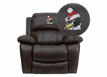 Youngstown State University Penguins Rocker Recliner - MEN-DA3439-91-BRN-45034-EMB-GG