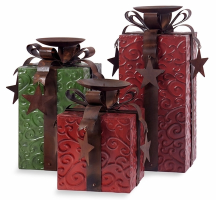Yule Love It Candleholders Package (Set of 3) - IMAX - 57912-3